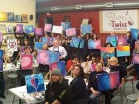 Painting with A Twist event